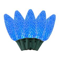 commerical grade led c9 light sets with blue bulbs novelty