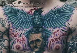 23 poe raven tattoos pictures and designs