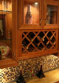 Kitchen Wine Cabinet Wood Wine Rack Lattice With Cabinet For Kitchen Decoration Ideas