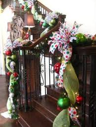 Decoration Staircase Christmas the stockings were hung