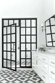 White Shower Door Black Shower Door Glassnyc Co
