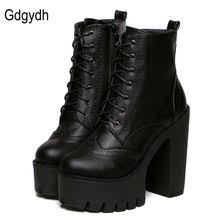 womens boots novo want want want black lace up zipper chunky boots style
