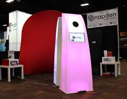 photobooth for sale glowing photo booth for sale makes impact at las vegas trade show