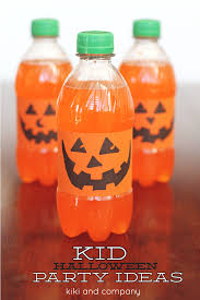 halloween kid party ideas orange pumpkin drinks halloween idea tutorial kiki u0026 company