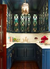 Ceiling Height Cabinets Blue Cabinets Contemporary Kitchen Ashley Whittaker Design