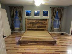 Making A Platform Bed Frame by Whole Pallet Platform Bed 150 Wonderful Pallet Furniture Ideas