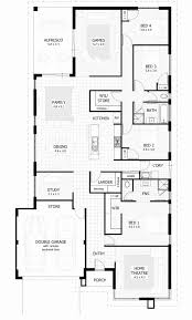 4 bedroom 3 bath house plans new 4 bedroom 3 bathroom house plans perth house plan