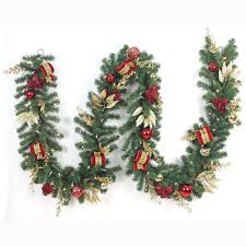 home accents 12 ft pre lit plaza artificial garland with