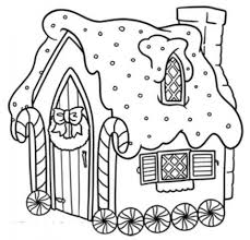 easy printable gingerbread house coloring pages