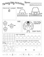 thanksgiving preschool printables