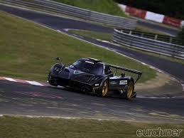 pagani zonda side view pagani zonda r sets nurburgring record eurotuner magazine
