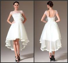 high low wedding dress with sleeves discount exquisite dulcea hi lo wedding dresses pearl bead sheer