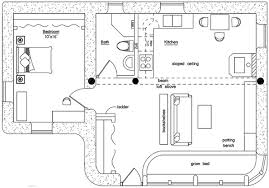 loft cabin floor plans solar cabin plan