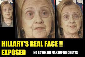 No Makeup Meme - hillary clinton real bare face photo surfaces no makeup youtube