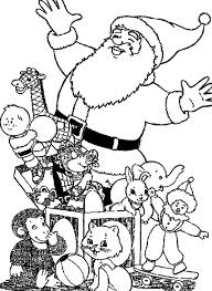 christmas coloring pages for kids santa claus and lots of presents