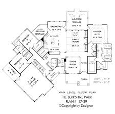 Main Level Floor Plans Berkshire Park House Plan House Plans By Garrell Associates Inc