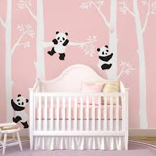 Wall Nursery Decals Trees With Pandas Wall Decal Panda Tree Panda Decals For Nursery