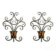 Pomeroy Home Decor Amazon Com Pomeroy Truffle Candle Holder Wall Sconces Set Of 2