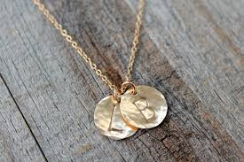 Mothers Necklace With Children S Names Mom Necklace Children U0027s Initial Necklace Gold Disc