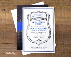 academy graduation invitations formal academy graduation invitation silver badge with