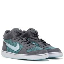 Nike Comfort Footbed Sneakers Nike Court Borough High Top Sneaker Grade Grey Blue