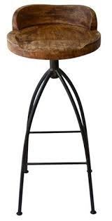 Industrial Bar Stool With Back Stirling Adjustable Wood Backed Bar Stool By Christopher Knight