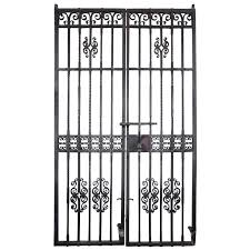 wrought iron room divider 1910 pair wrought iron gates by samuel yellin with cat motif from