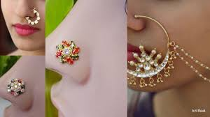 nose rings gold images Beautiful nose pins new designs latest 22k gold nose rings jpg