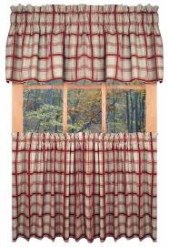 logan plaid print tailored valance window curtain window toppers