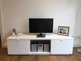 White High Gloss Computer Desk by Ikea Byas Tv Unit In High Gloss White In Hoxton London Gumtree