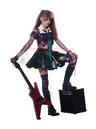 Scary Halloween Costumes Kids Child Zombie Punk Rocker Fancy Dress Costume Halloween Scary