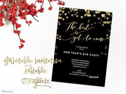 printable new year u0027s eve party invitation template for word in