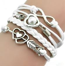 cord bracelet with charm images White cord bracelet with charms jpg