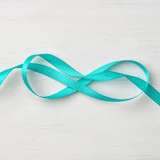 teal satin ribbon bermuda bay 3 8 stitched satin ribbon by stin up