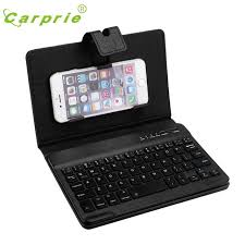 keyboard for android phone carprie leather with detachable bluetooth keyboard for 5 7inch ios