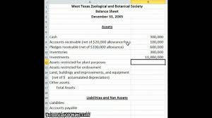 Income Statement For Non Profit Organization Template by Non Profit Balance Sheet