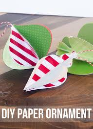 Diy Paper Christmas Decorations Paper Ornaments By Love The Day