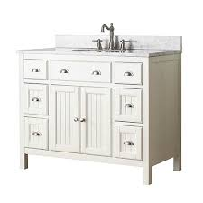 adelina 42 inch traditional style antique white bathroom vanity