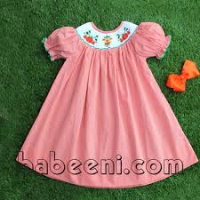 scarecrow and pumpkin smocked bishop dress one of the most