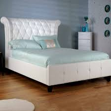 awesome white leather bed high headboard headboard ikea action