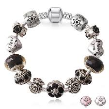bead bracelet european images Innocententre junesnow sliver plated jewelry european charm rose beads jpg