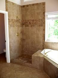 Tiled Bathroom Showers Corner Tub With Shower Combo Could Add Another Shower And A