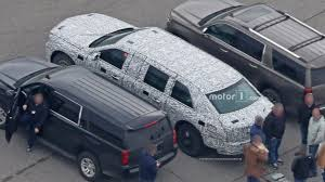 cadillac minivan president trump u0027s future cadillac limo spied looking u0027yuge u0027