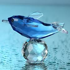 aliexpress buy glass blue dolphin figurines with