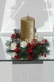 shop christmas table decoration candle ring w roses u0026 holly