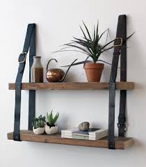 Wooden Shelf Building by Leather U0026 Wood Shelf Diy Make Your Own Wall Shelf Using A Few