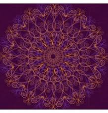 ornamental lace circle ornament royalty free vector