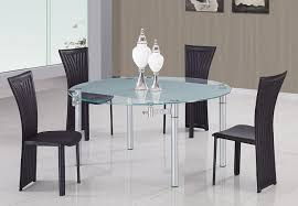 Glass Topped Dining Table And Chairs Dining Room Tables Modern Sets Glass Presenting