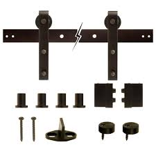 The Home Interior Everbilt Dark Oil Rubbed Bronze Decorative Sliding Door Hardware