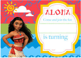 Birthday Invitation Card Download Download Now Free Printable Moana Birthday Invitation And Party